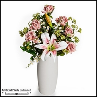 Pink Rose and Lily Devotion Arrangement