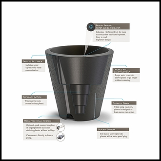 Pinpoint 26in. Tapered Planter