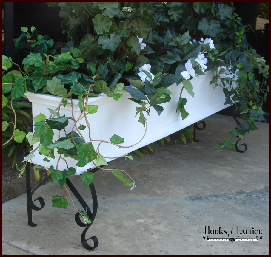 Outdoor Planter Stand Window box planter stands garden planter stand flower box stand click to enlarge workwithnaturefo
