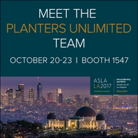Planters Unlimited Highlights Fresh Designs and Multi-Functional Products at ASLA EXPO 2017