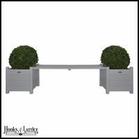 Planters with Bridge Bench - Grey