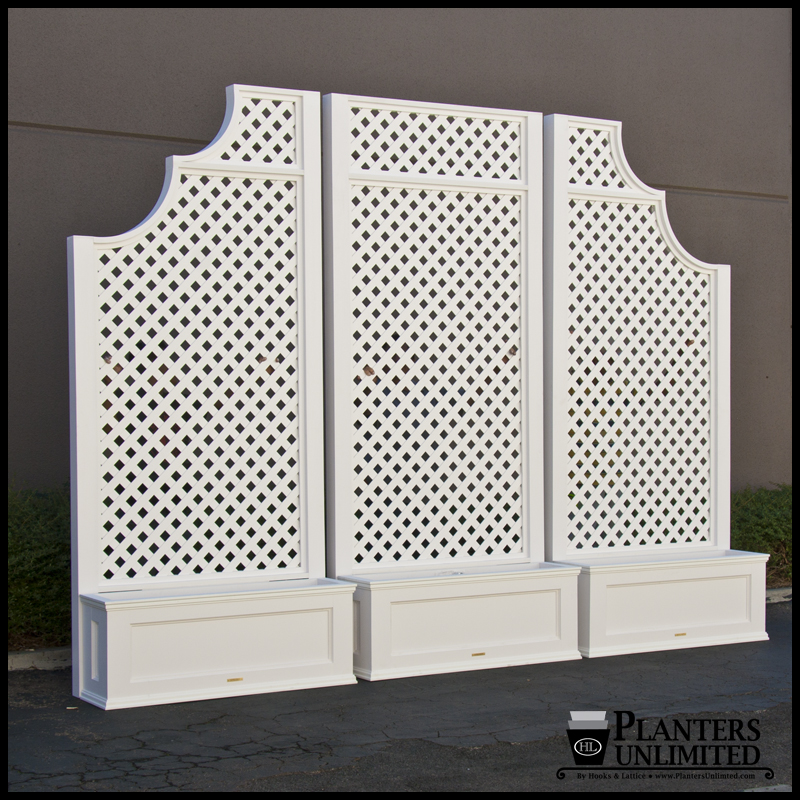 Planters With Trellises Click To Enlarge