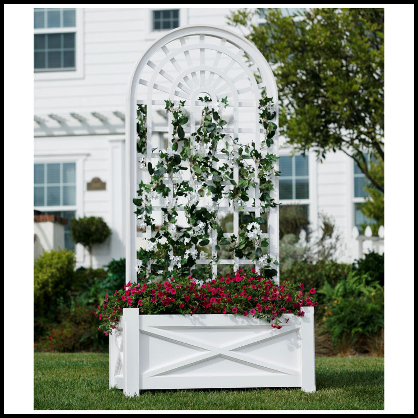 Planters With Trellises Trellis Planters Hooks Lattice
