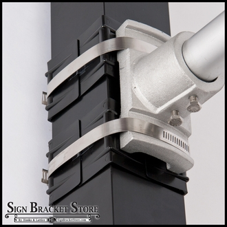 Plastic corner strap guards-Black