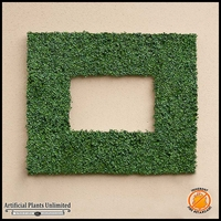 Duraleaf Plush Japanese Boxwood Frame, 38inL x 25inH w/ 26inL x 13inH Opening