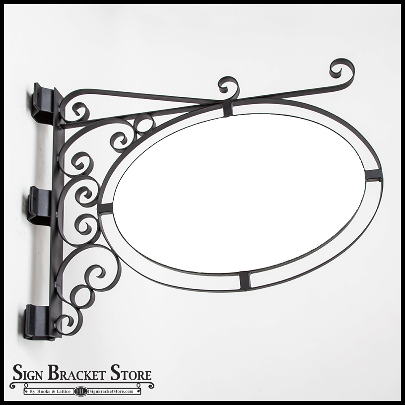 Double Oval Sign Frame with Sign Blank