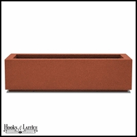 Regatta Short Trough Planter with Toe Kick - Red Clay