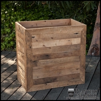 Porter Reclaimed Oak Commercial Planter 18in.L x 18in.W x 24in.H