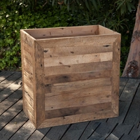 Porter Reclaimed Oak Commercial Planter 30in.L x 30in.W x 42in.H