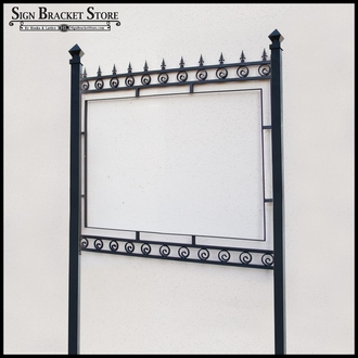"Post and Panel Gothic Style Sign Frame - 42"" x 42"""