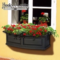 Presidential 36 in. Window Box - Black