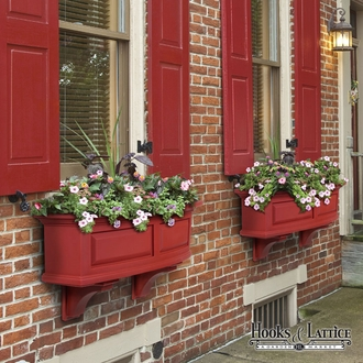 Presidential 36 in. Window Box Red