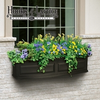 Presidential 48 in. Window Box - Black