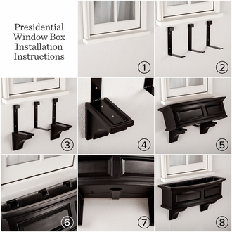 Presidential 48 in. Window Box Red