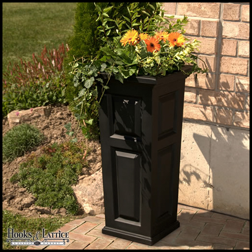 Great Presidential Tall Patio Planter   Black Click To Enlarge