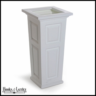 Presidential Tall Patio Planter - White