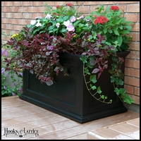 Prestige 20x36 Patio Planter - Black
