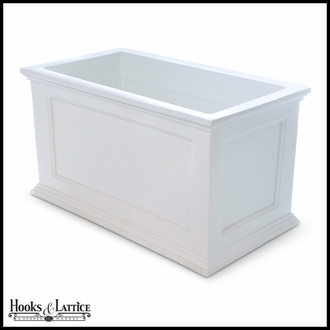 Prestige 20x36 Patio Planter - White
