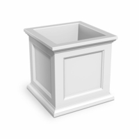 Prestige 28x28 Patio Planter - White