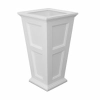Prestige 40 inch Tall Planter - White