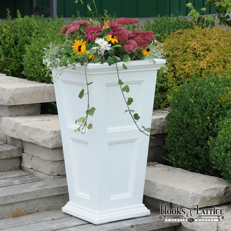 Prestige 30in tall planter white tall planter white click to enlarge mightylinksfo