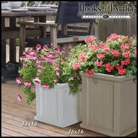 "Promenade 14"" Square Planter-White"