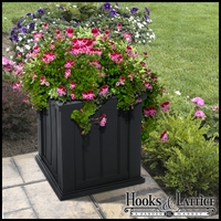 "Promenade 16"" Square Planter-Black"