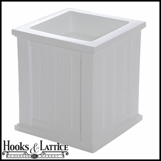 "Promenade 16"" Square Planter-White"