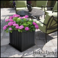 "Promenade 20"" Square Planter-Black"