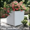 "Promenade 20"" Square planter-White"