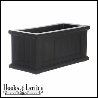 "Promenade 24""x11"" Patio Planter-Black"