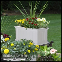 "Promenade 24""x11"" Patio Planter-White"