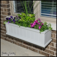 "Promenade 36"" White Window Box"