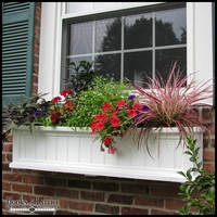 "Promenade 48"" White Window Box"
