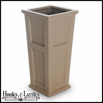 Promenade Tall Patio Planter-Clay