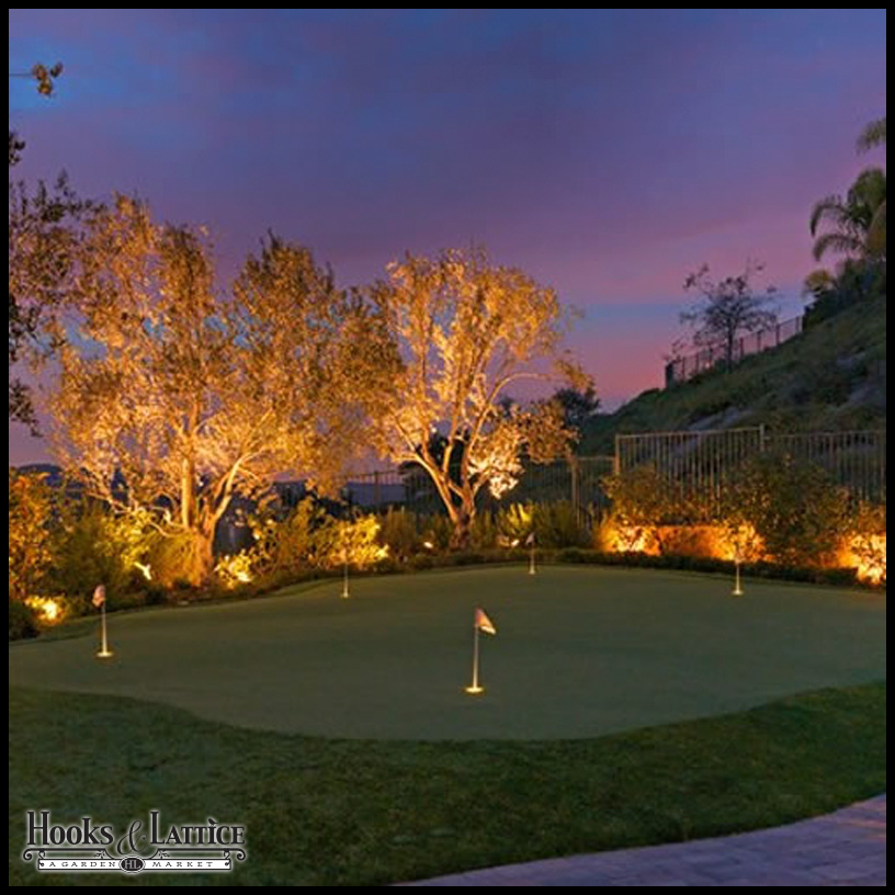 Backyard Putting Green Lighting Hooks Amp Lattice