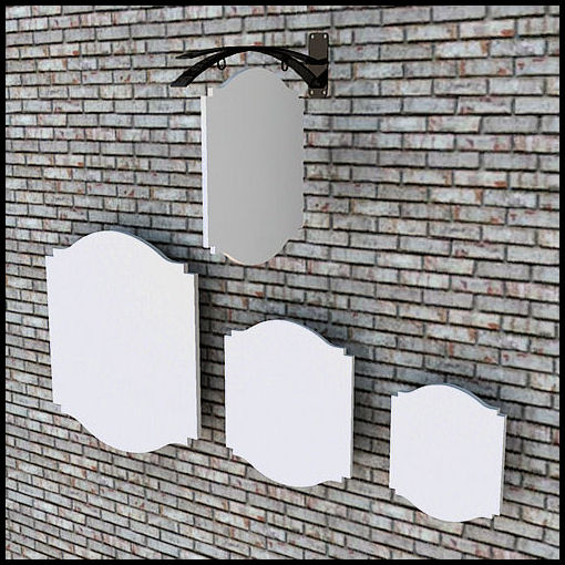 Blank Hanging Signs