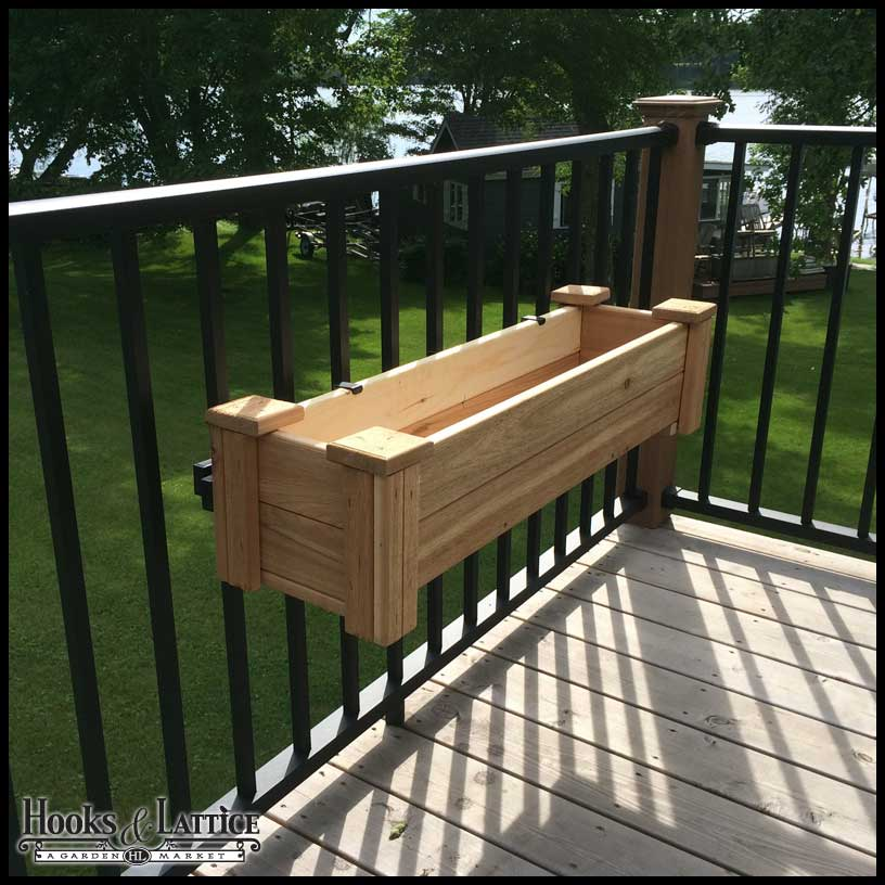 Rail Planter Box Bracket Adjustable Pair Click To Enlarge