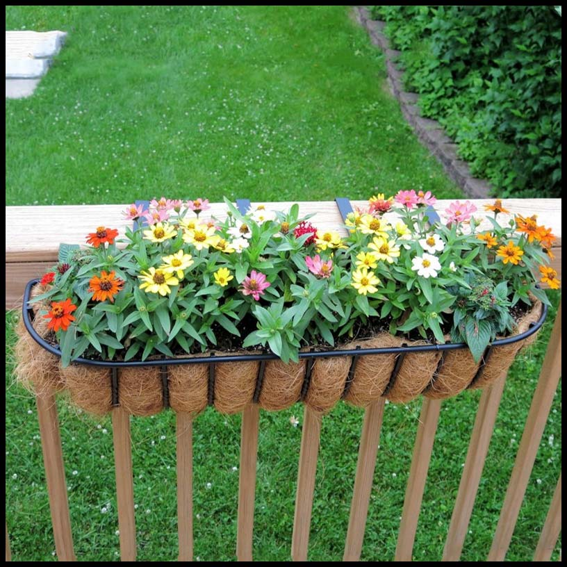 1000 Images About Garden Containers Deck Railing On: Planters For Railings - Hooks