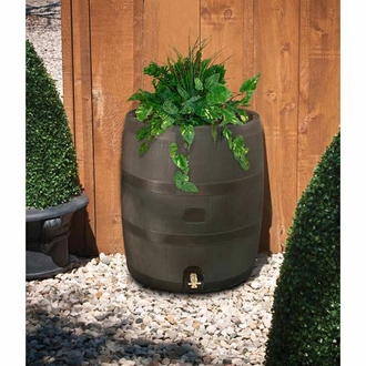 Rain Barrel with Planter - 2 Colors