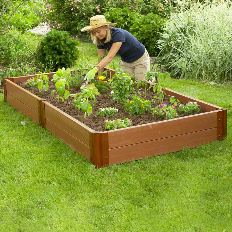 Raised Garden Featuring Composite Lumber Click To Enlarge