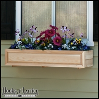 Raised Panel Cedar Window Box