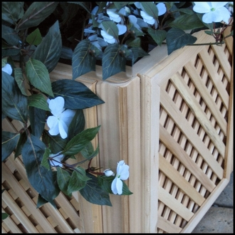 Raised Panel Deck & Patio Planters