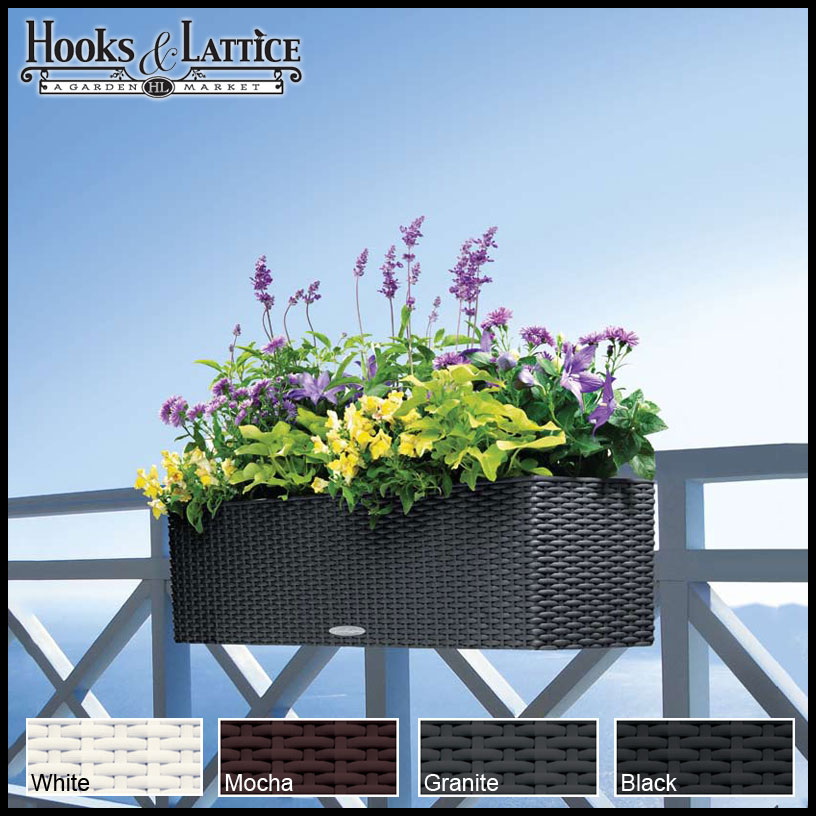 Lattice Rail Flower Box Is A Superb Addition To Decks: Wicker Planters & Rattan Planters