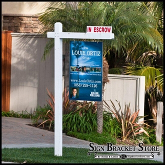 """Real Estate Signs - Double Sided Printed on 6""""H x 24""""W"""