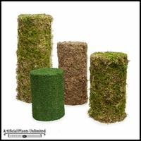 4'H Real Moss Topiary Pillar/Cylinder