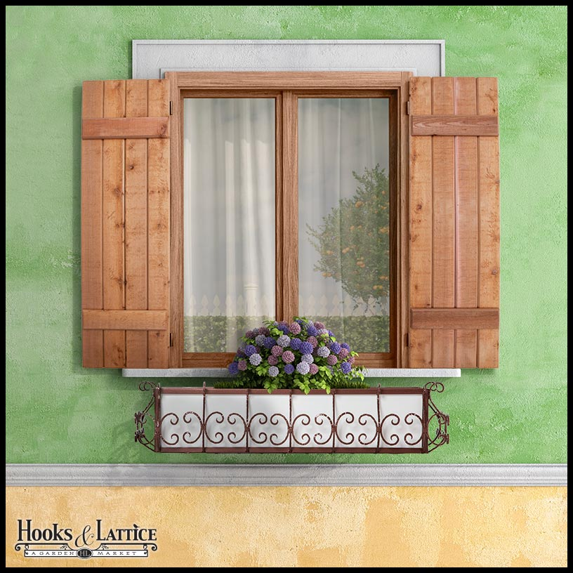 Wooden Window Shutters : Barn and reclaimed wood shutters outdoor hooks lattice