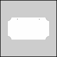 Rectangular Aluminum Sign Blanks