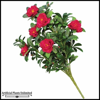 18in. Red Azalea Bush, Indoor Artificial