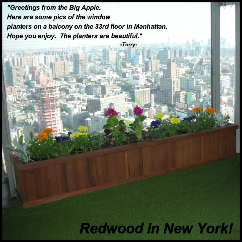 Large Redwood Planter Box For Tomatoes: Redwood Planters - Redwood Planter Boxes